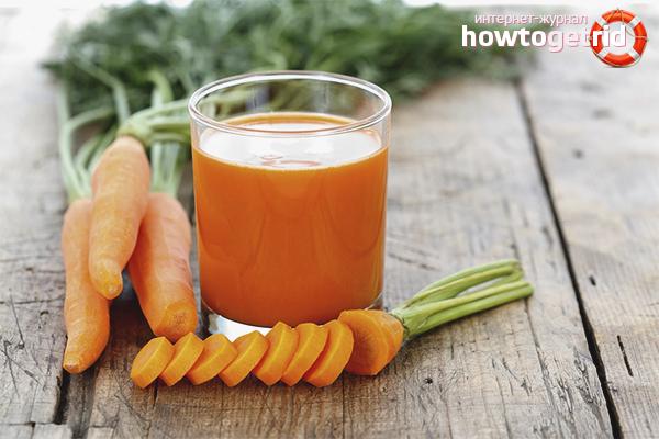 польза и вред свежевыжатого морковного сока