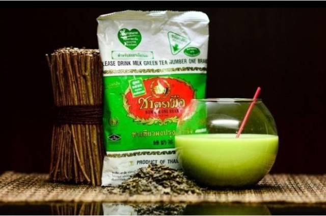 зеленый молочный чай из тайланда полезные свойства изумрудный чай