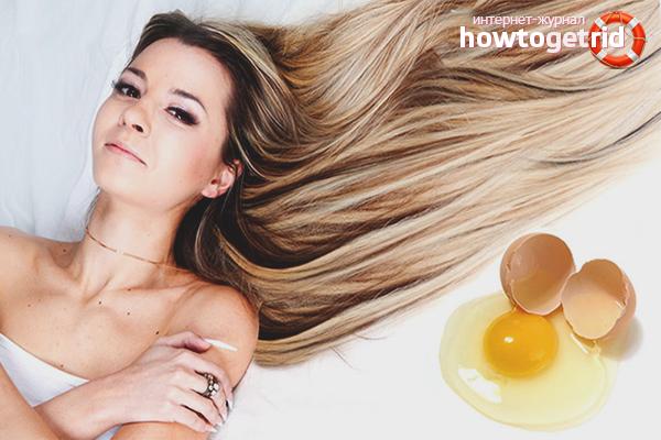 мытье головы яйцом польза и вред