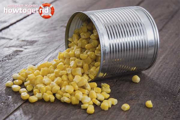 сладкая консервированная кукуруза польза и вред