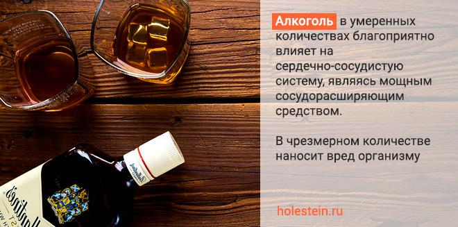 водка и холестерин польза и вред