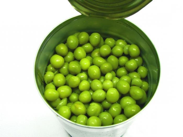 вред и польза зеленого горошка консервированного