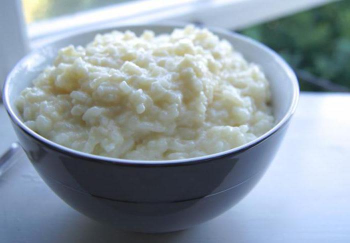 каша рисовая молочная польза и вред