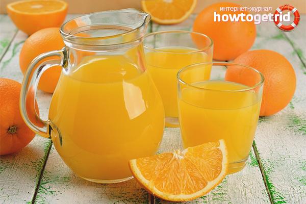 апельсиновый сок польза и вред для печени