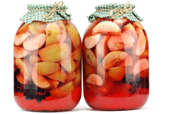 чем полезен компот из черноплодной рябины и яблок