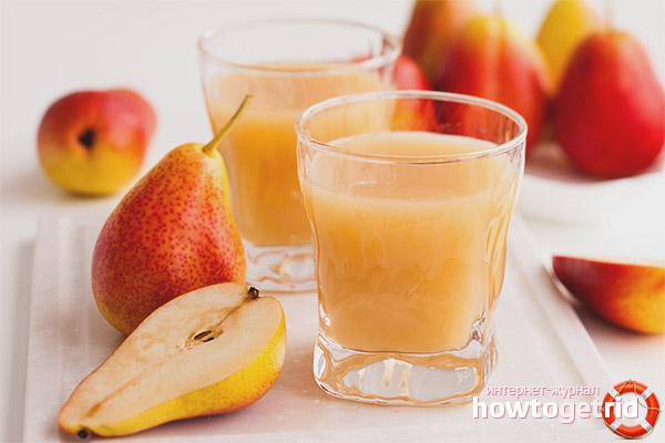 грушевый сок свежевыжатый польза и вред