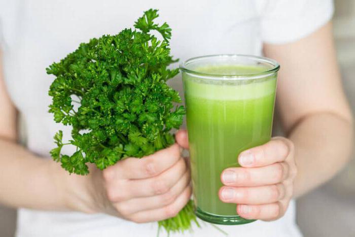 сок корня петрушки польза и вред